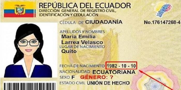 como saber la fecha de nacimiento por el registro civil en ecuador