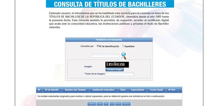 documentos necesarios para el titulo de bachiller en ecuador