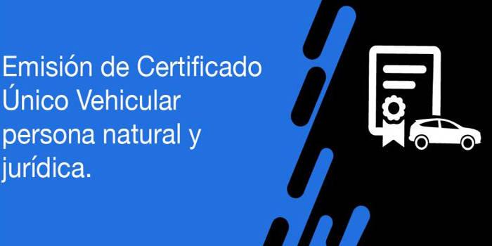 documentos necesarios para tramitar el certificado unico vehicular